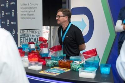 Scott Trenor, principal scientist of Miliken & Company, at PureCycle Investor Day Expo.