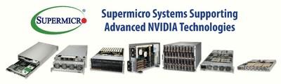 Sistemas da Supermicro suportam tecnologias avançadas da NVIDIA (PRNewsfoto/Super Micro Computer, Inc.)