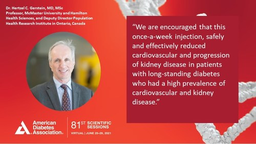 Dr. Hertzel C. Gerstein presented findings at the virtual 81st Scientific Sessions of the American Diabetes Association and simultaneously published in The New England Journal of Medicine.