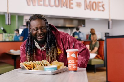 Moe's Southwest Grill® Partners With T-Pain To Launch Frank's RedHot® Buffalo Queso Taco.