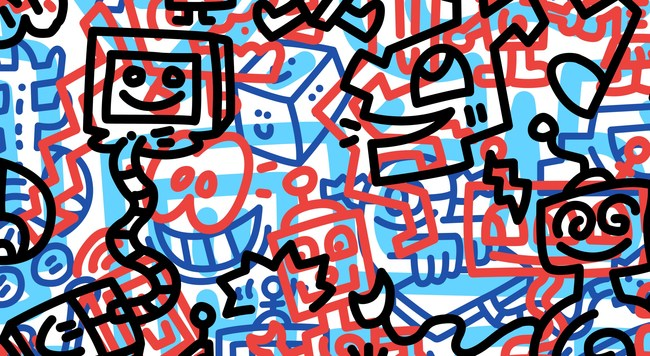 A Snippet of Mr Doodle's First NFT Artwork: ESC