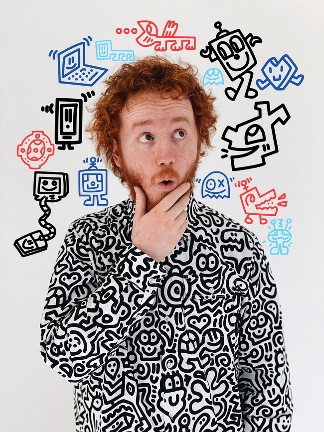 Artist portrait for his first NFT artwork: ESC