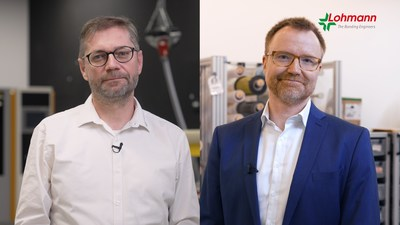 Peter Harendt, Head of Technical Marketing at Lohmann, and Dr. Carsten Herzhoff, Technical Managing Director at Lohmann.