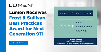 Lumen receives Frost & Sullivan Best Practices Award for Next Generation 911