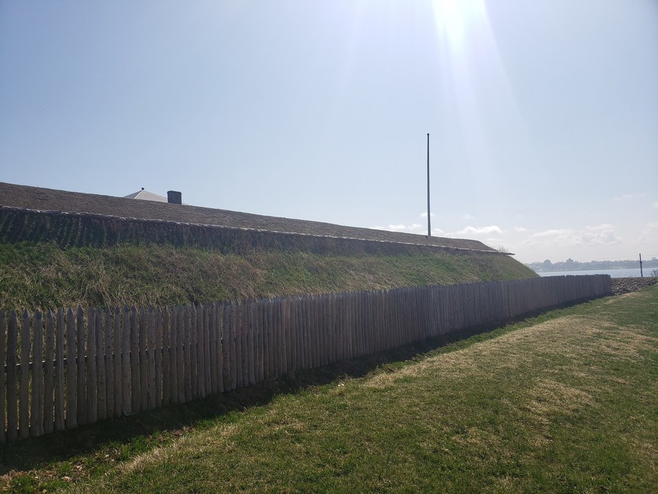 Newly restored defensive works at Fort Wellington National Historic Site, 2021. ©Parks Canada (CNW Group/Parks Canada)