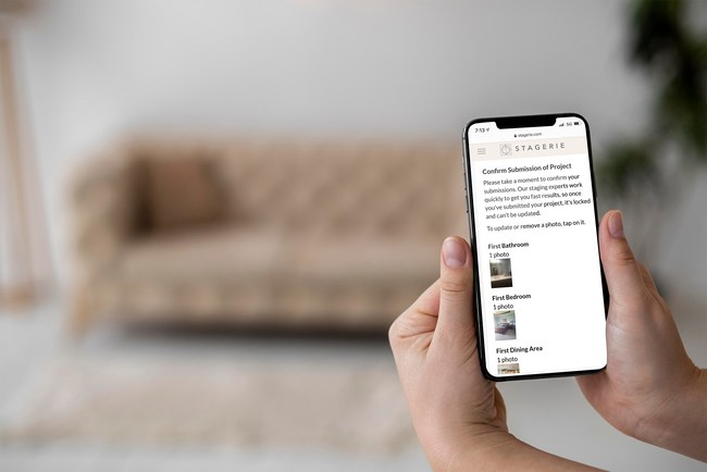 Realtors and Homeowners can use Stagerie from their phones to get their action plan.