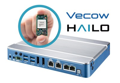 Powered by the 8th generation Intel® Core i7/i5/i3 processor, the Vecow ABP-3000 AI solution can integrate multiple advanced Hailo-8™ AI accelerators with best-in-class power efficiency for fanless industrial-grade AI edge devices.