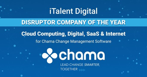 iTalent Digital named Disruptor Company of the Year for Chama change management software