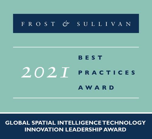 2021 Global Spatial Intelligence Technology Innovation Leadership Award (PRNewsfoto/Frost & Sullivan)