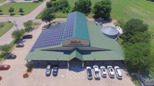 Ann's Health Food in Waxahachie, Texas will be powered with solar from Sunfinity.