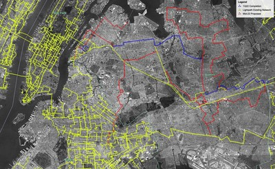 Figure 1: Lightpath Queens, New York City Network Expansion Announced June 30, 2021