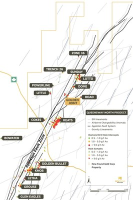 Figure 3.  Golden Joint location along the Appleton Fault Zone (CNW Group/New Found Gold Corp.)