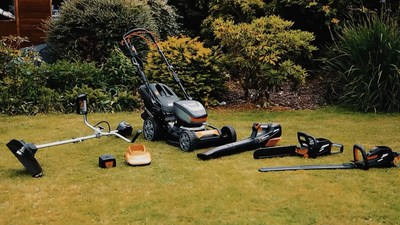 """The """"MR60V"""" range, comprises of lawn mower, 2-in-1 brush cutter/grass trimmer, chain saw, hedge trimmer and blower. All powered by the most advanced BMS (Battery Management System), Proactive Battery Cooling System and Brushless Motors, giving 20% more performance, extended life cycle, longer operation - one step closer to making petrol powered garden tools a thing of the past."""