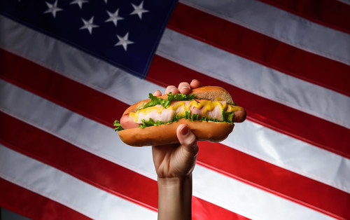 """While Independence Day may be the """"right"""" time to eat a hot dog, a new survey showed nearly 9 in 10 Americans believe there is no wrong time to eat a hot dog."""