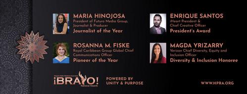 2021 HPRA Bravo Award Honorees