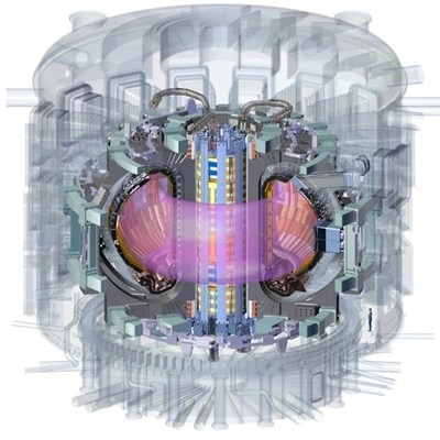 The central solenoid forms the spine of the tokamak machine. Its function is to induce the plasma current and maintain it throughout the discharge. Credit © ITER Organization, http://www.iter.org/