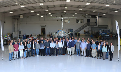 The Eviation team pictured at Eviation headquarters in Arlington, Wash.