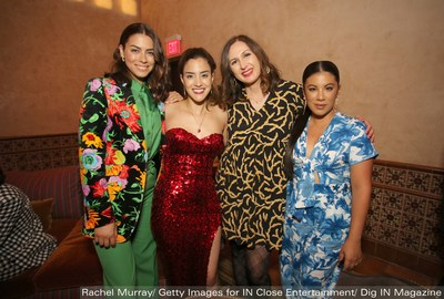 """(L-R) Actress Lorenza Izzo, Director Lissette Feliciano, Associate Producer Cindy Maram and Actress Chrissie Fit attend the 2021 Los Angeles Latino International Film Festival Closing Night """"Women Is Losers"""" Premiere Afterparty at the Hollywood Roosevelt Hotel. - Photo by Rachel Murray/Getty Images for IN Close Entertainment/Dig IN Magazine"""