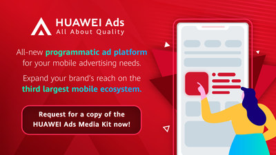 HUAWEI Ads is a one-stop, programmatic advertising marketplace by Huawei Mobile Services. The platform provides diverse ad solutions and end-to-end support for advertisers to achieve joint business growth in the digital ad environment. Interested advertisers can visit https://bit.ly/HuaweiAdsAPACE to obtain the HUAWEI Ads media kit and book a demo session to learn more about the platform.