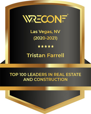 Top 100 Leaders in Real Estate and Construction awarded to Tristan Farrell, President of Sunlight Resorts