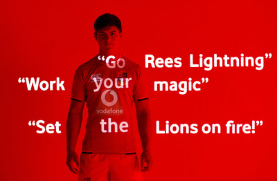 Louis Rees-Zammit is an official Vodafone ambassador for the 2021 British & Irish Lions Tour to South Africa -  photographer Mads Perch