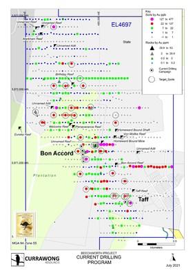 Figure 2 Beechworth: Hillsborough Area Gold Geochemistry (CNW Group/Fosterville South Exploration Ltd.)