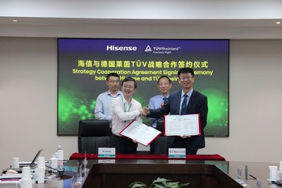 Hisense and TÜV Rheinland signed a strategic cooperation agreement