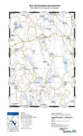 Avis de fermeture permanente - Pont H042-121 Charge du lac Edmond (Groupe CNW/Ministère des Forêts, de la Faune et des Parcs)