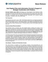 Inter Pipeline Files Joint Information Circular In Support of Strategic Combination with Pembina (CNW Group/Inter Pipeline Ltd.)