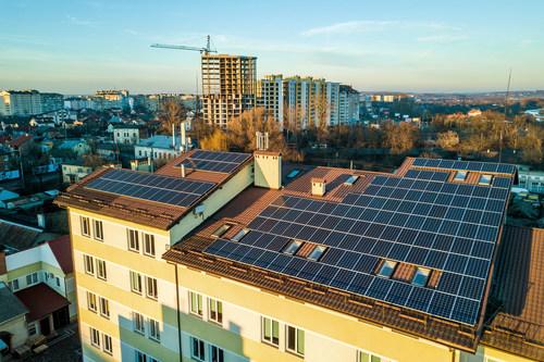 Solar rooftop panels (PRNewsfoto/Frost & Sullivan)