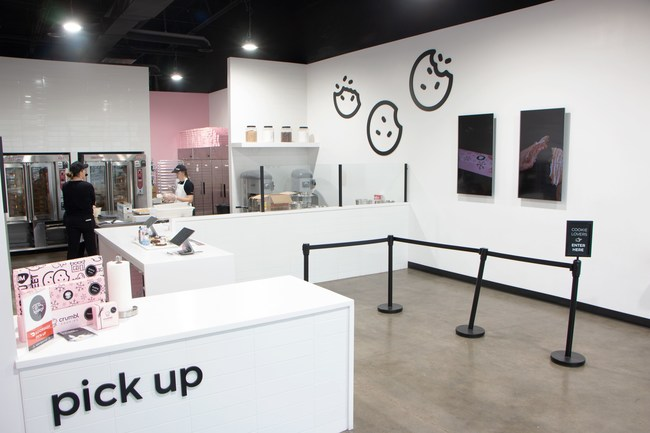 Crumbl shops, which typically range from 1,400-1,600 square feet, feature a fully open kitchen, allowing patrons to see the cookies mixed and baked.
