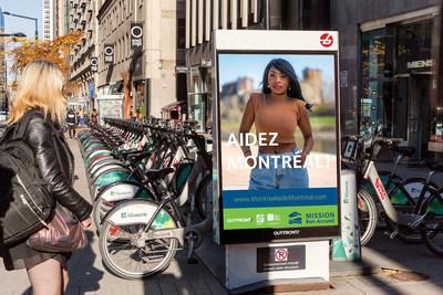 Campagne Montréal AIDE Montréal (Mission Bon Accueil) sur le mobilier urbain BIXi
