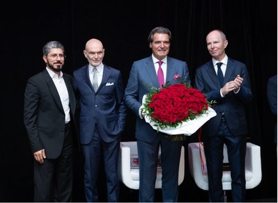 Left to right: Mohamed Al Ali, CEO & Advisor, Sheikh Ahmed Al Maktoum International Investments Enterprise, UAE; Markus Lehner, Chairman of the 15th Global Family Office Investment Summit, Principal of the Markus Lehner Organisation, Founder of Lehner Investments, Monaco; Sir Anthony Ritossa, Chairman of Ritossa Family Office & Host of Ritossa Global Family Office Investment Summits, UAE; and Distinguished Grand Ambassador for the 15th Global Family Office Summit: H.R.H. Prince Michel de Yougoslavie, Grandson of King Umberto of Italy and Prince Paul of Yugoslavia, Monaco