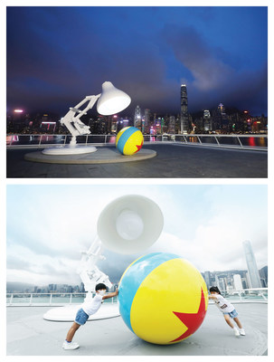 Icônica instalação Ball and Lamp da Pixar marca sua primeira aparição em Hong Kong no Ocean Terminal Deck do Harbour City. (PRNewsfoto/Harbour City Hong Kong)