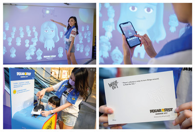 Os clientes podem capturar os personagens ocultos por meio de realidade aumentada (RA) em cinco pontos de contato no Harbour City, em Hong Kong. (PRNewsfoto/Harbour City Hong Kong)