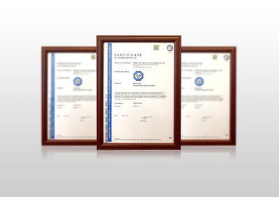 The safety certificate issued by TÜV SÜD.
