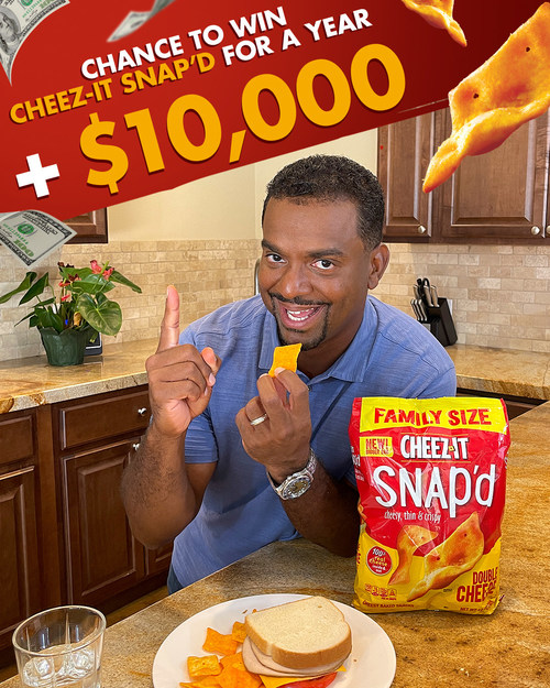 LUNCH IS SERVED: CHEEZ-IT® SNAP'D AND COMEDIAN ALFONSO RIBEIRO HELP 'SNAP' AMERICANS OUT OF THEIR LUNCH RUT