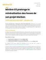 Télécharger le communiqué de presse (Groupe CNW/O3 Mining Inc.)