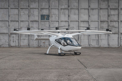 Avion électrique VoloCity de Volocopter. Cliquez ici pour télécharger l'image en haute résolution. Droits d'auteur Volocopter. (Groupe CNW/CAE INC.)