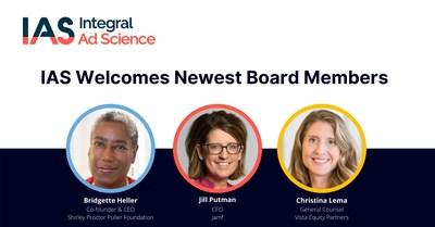 Bridgette Heller, Christina Lema, and Jill Putman have joined IAS's board of directors