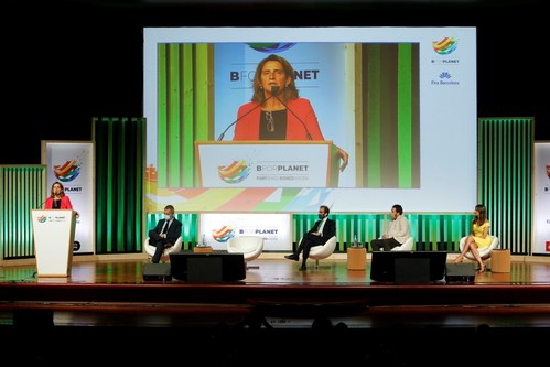 Teresa Ribera, Minister of Ecological Transition at the opening ceremony (PRNewsfoto/Fira de Barcelona)