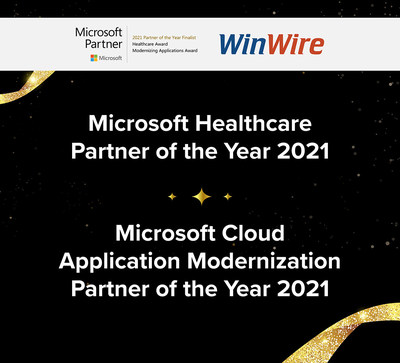 WinWire Recognized in 2021 Microsoft Partner of the Year Awards for Healthcare and Cloud Application Modernization