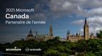 Accenture et Avanade reconnus comme Partenaire national Microsoft Canada de l'année 2021