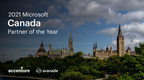 Accenture and Avanade Recognized as 2021 Microsoft Canada Country Partner of the Year