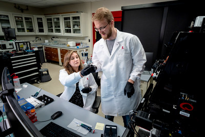 Dr. Mikael Holm and Emily Rundlet of St. Jude Children's Research Hospital, and co-authors of a new publication in Nature.