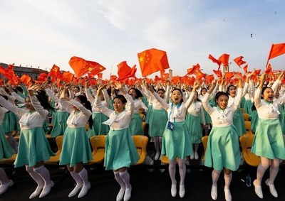 A ceremony marking the centenary of the founding of the Communist Party of China takes place in Beijing on July 1 (CHINA PICTORIAL)