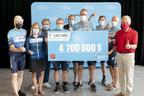 Une mobilisation à la hauteur d'un événement ne cessant de se surpasser - Une somme de 4,7 M$ amassée pour la 25e édition du Tour CIBC Charles-Bruneau !