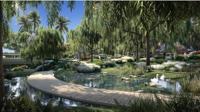 Willow Garden and Swan Pond in Botanical Gardens