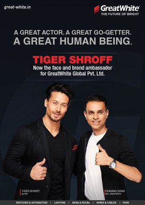 Tiger Shroff - Now the face and brand ambassador for GreatWhite Global Pvt.Ltd.