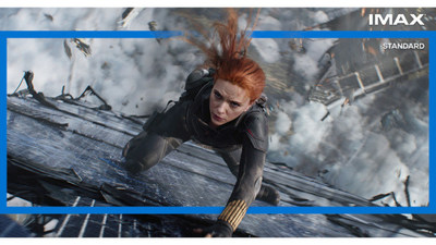 An IMAX image from the new Black Widow movie.